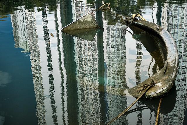 Boatwreck in City