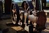 Vintage Ingersoll-Rand air compressor - Goldfield Ghost Town, Apache Junction, Arizona