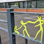 Recycling Lives logo in the railings