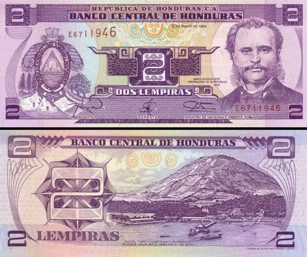 2 Lempiras Honduras 1994 P72c