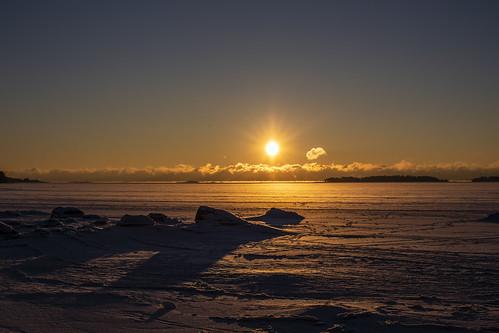 canon6d landscape frozensea sunrise sky clouds nature outdoors outside sun rocky espoo finland
