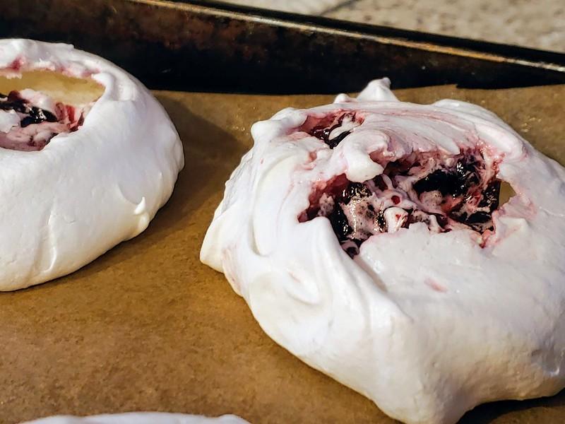 Cherry Chunk Meringue Cookies