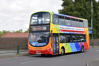Go North East Washington Based (visiting other depots) 6050 NK12GDE Volvo B9TL Wright Eclipse Gemini 2 Branded Rainbow