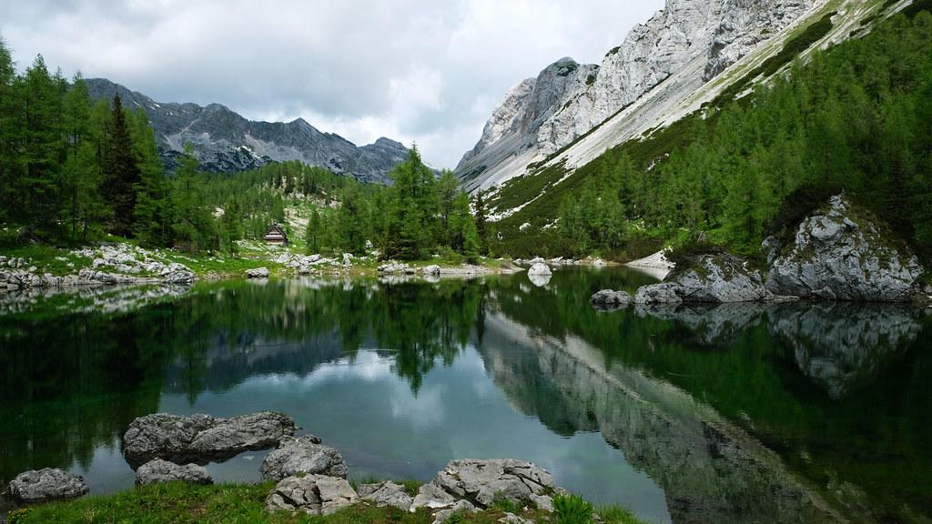 Double Lake, Triglav Lakes Valley, Slovenia