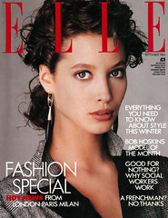 ELLE SEPTEMBER 1986 £1 UK EDITI??N MODEL:CHRISTY TURLINGTON.