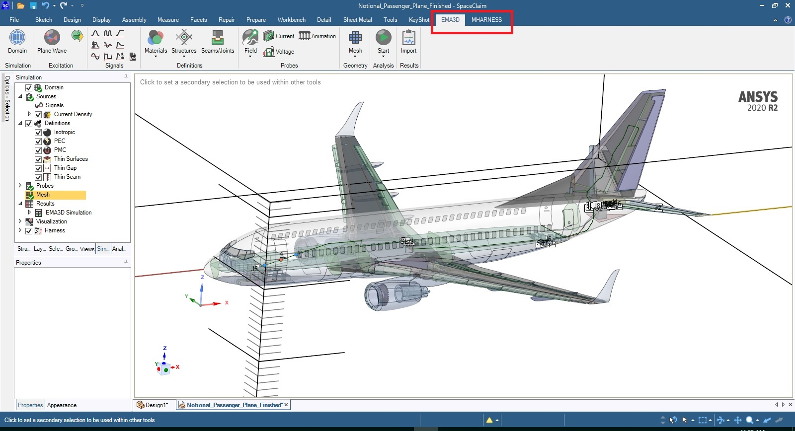 Working with ANSYS EMA3D Cable 2020 R2 full license