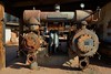 Retired 2-stage Ingersoll-Rand air compressor - Goldfield Ghost Town, Apache Junction, Arizona