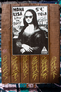 Mona Lisa Looking To Party.