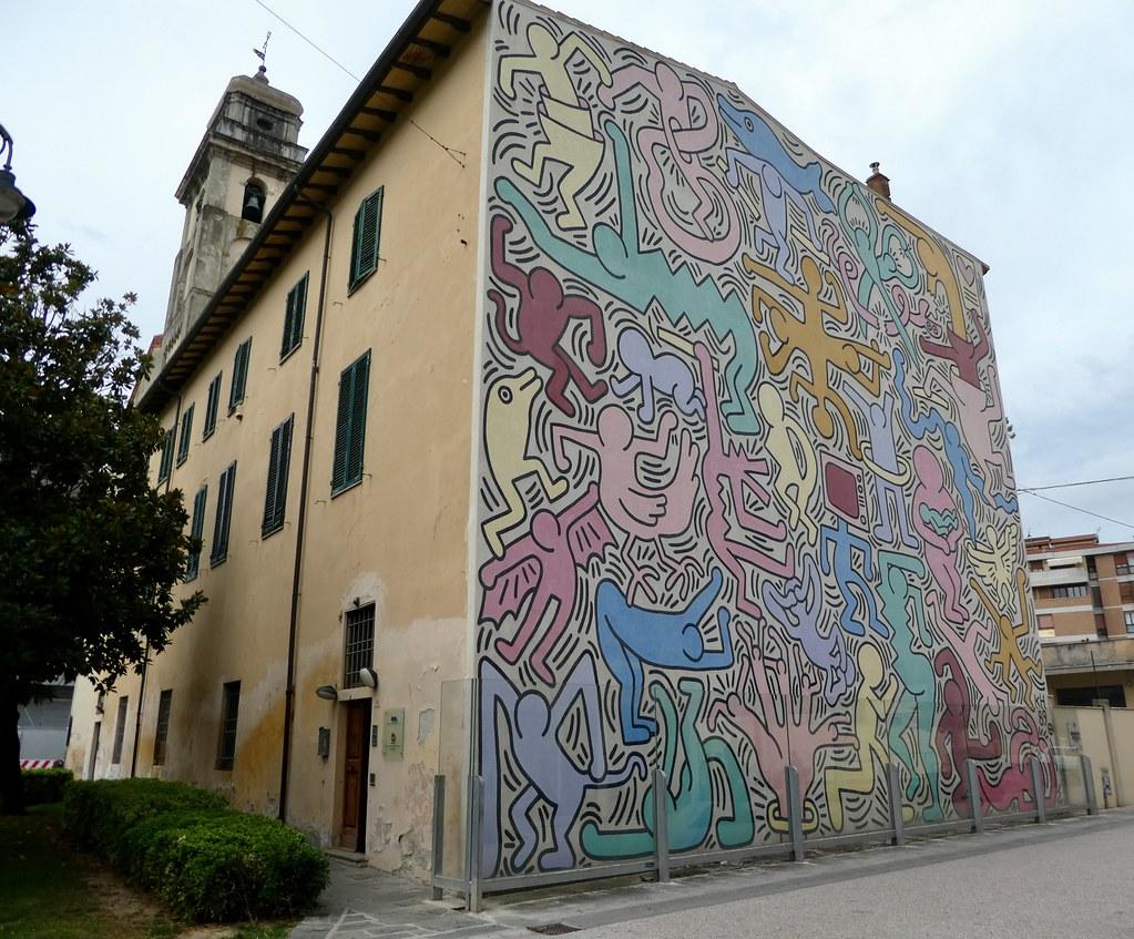 Tuttomondo oleh Keith Haring Pisa
