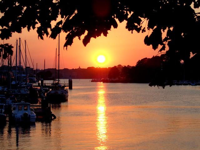 Sonnenuntergang an der Schwentinemündung-so ein schöner Sommerabend!