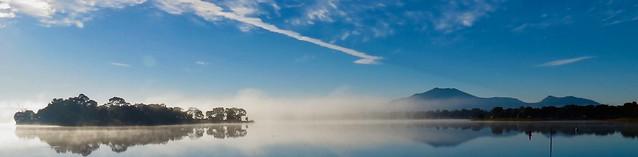 A chilly misty morning,