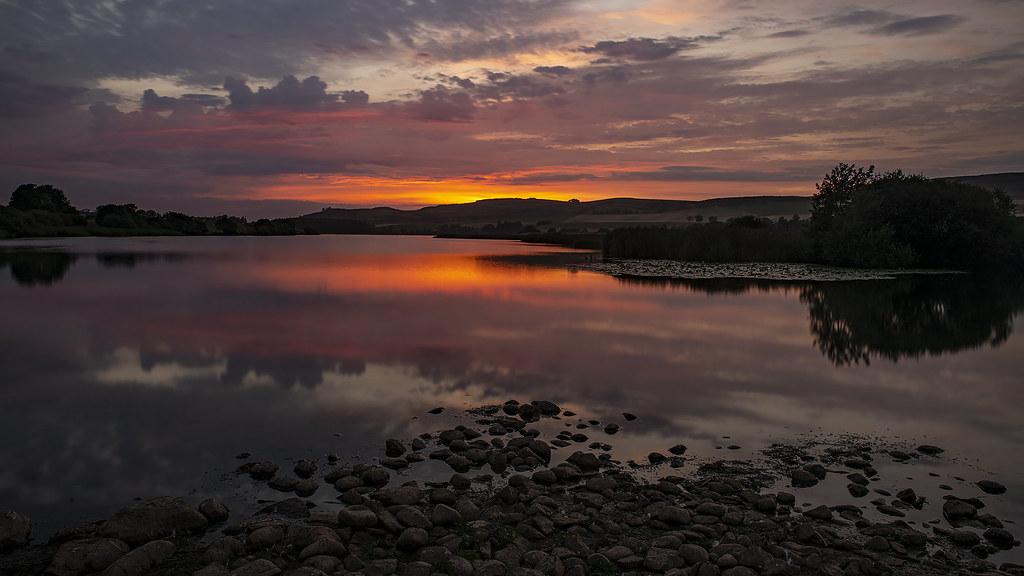 Rescobie Loch Sunset