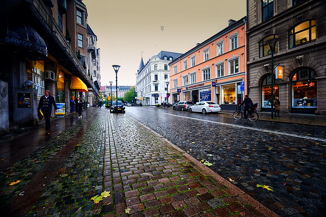 Rainy day in Malmo, Sweden