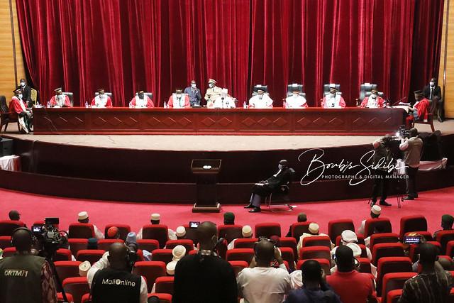 Prestation de serments des 9 sages de la Cour constitutionnelle du Mali