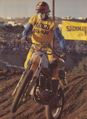 1975 Saddleback Trans-AMA Steve Stackable racing to 5th overall - MXA pic