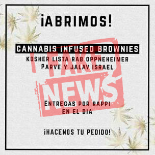 Fake News: Rab Opppenheimer NO autorizó los Brownies de Cannabis