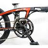 512-001 COSMOS FD-Z1 PLUS 碳纖維(T700) 20吋22速油壓碟煞(9.5公斤)折疊車-鈦黑紅(105變速器)(飛輪11-28)(右折不可伸縮立管)(水滴座管)(車重不含腳踏板)