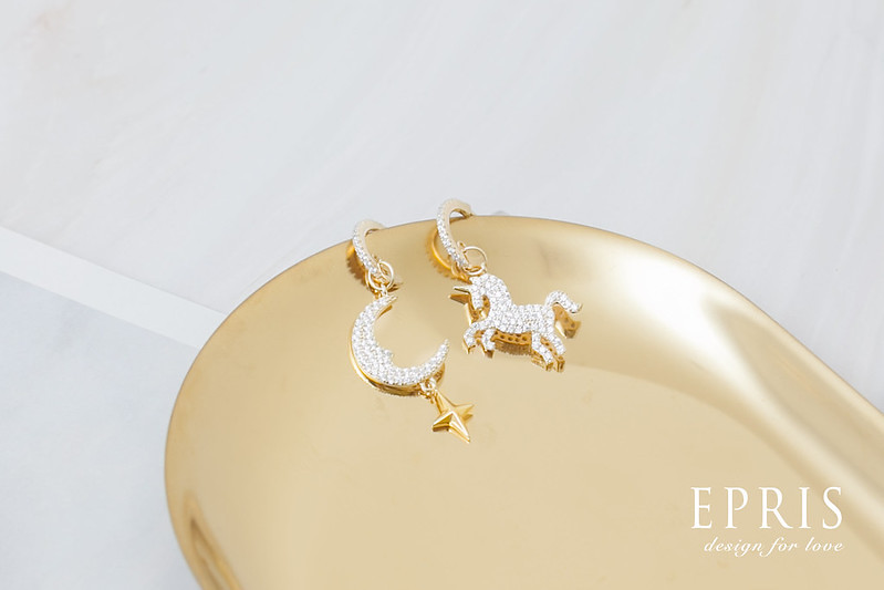 水鑽耳環 耳掛式耳環