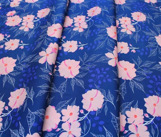 Art Gallery Fabrics Flowerette Midnight Garden