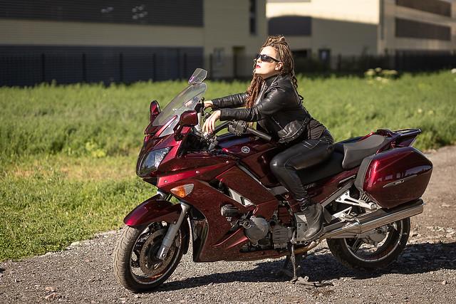 Biker in leather