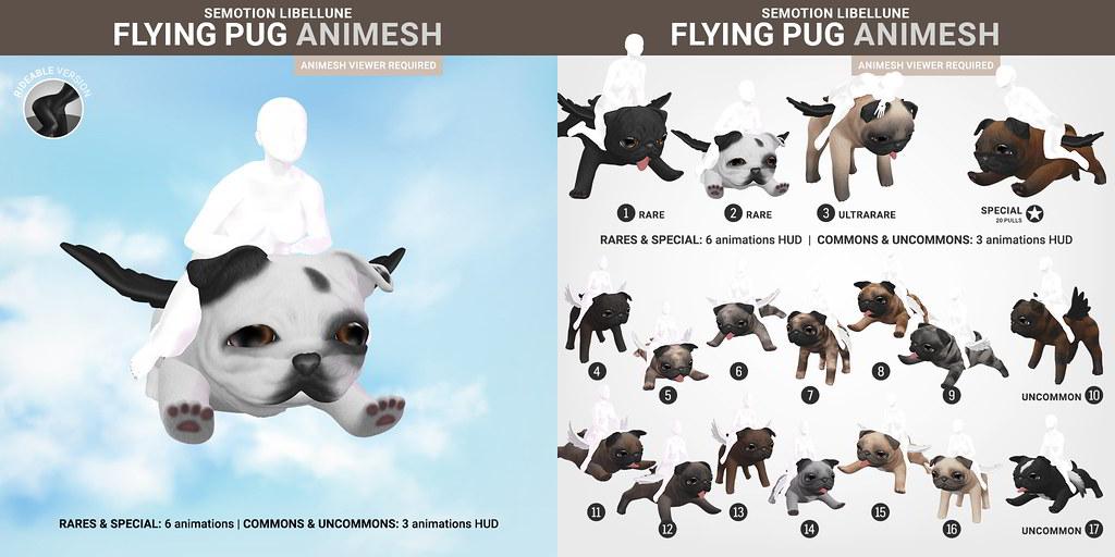 SEmotion Libellune Flying Pug Animesh