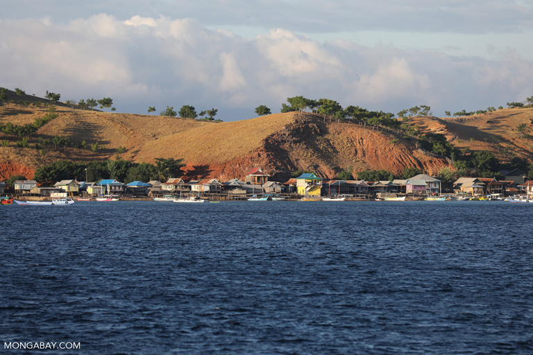 A fishing village on the small island of Papagaran Besar, in Indonesia's East Nusa Tenggara province.