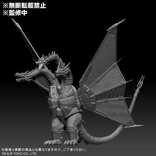 東寶大怪獸系列 機械王者基多拉(1991)開發中原型釋出 再現魄力的機械雙翼!