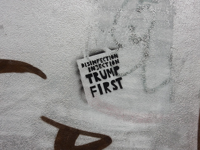 Disinfection injection: Trump first