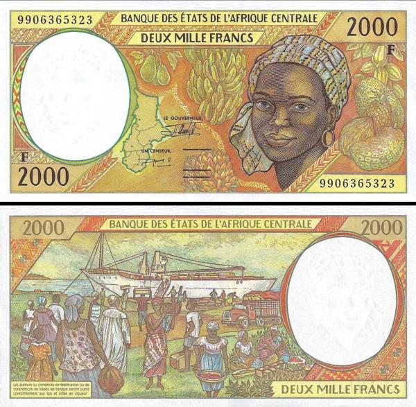 2000 Frankov Stredoafrická Republika 1999, P303Ff UNC