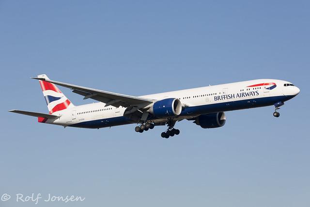 G-STBH Boeing 777-300ER British Airways Heathrow Airport EGLL 26.02-19