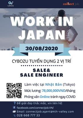 [Cybozu] Thông tin chương trình tuyển dụng làm việc tại Nhật : Sales Engineer