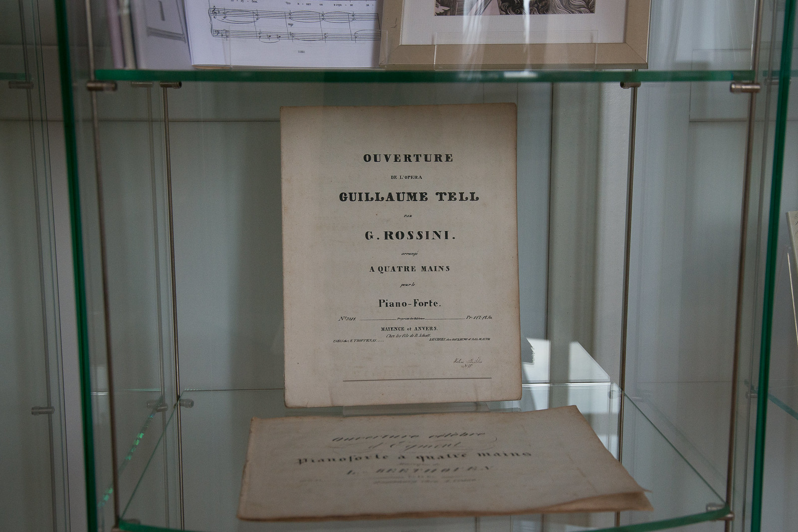 Ноты. Л. Бетховен. Увертюра к опере «Эгмонт». 1830. Ноты. Д. А. Россини. Увертюра к опере «Вильгельм Телль». 1829