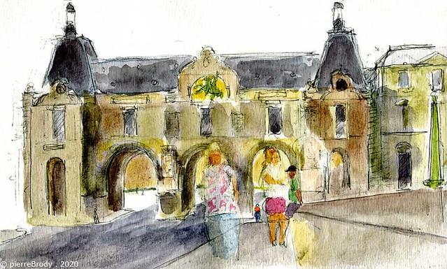 Le Louvre, vu du pont du Carrousel