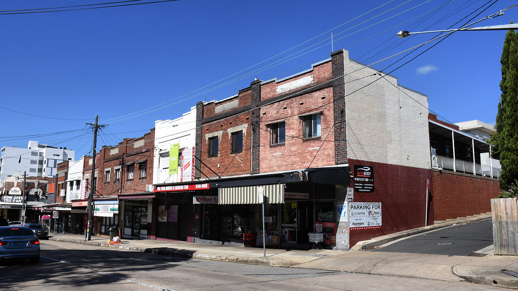Shops, Burwood Rd, Concord, Sydney, NSW.