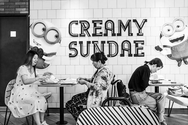 Creamy sundae