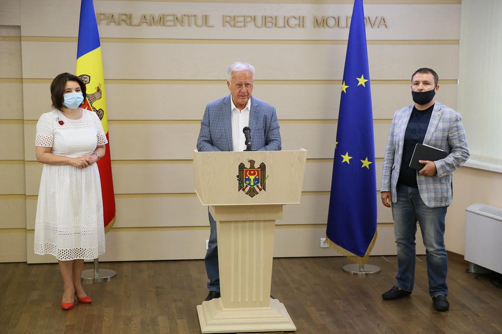11.08.2020 Declarații de presă ale Fracțiunii PDM, la încheierea discuțiilor PDM-PAS-PSRM-PPDA pe platformă parlamentară