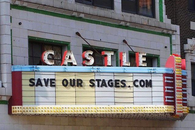 IL, Bloomington-Castle Theater Marquee & Sign
