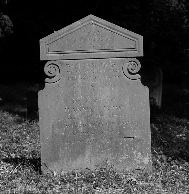 The grave of William and Hannah How