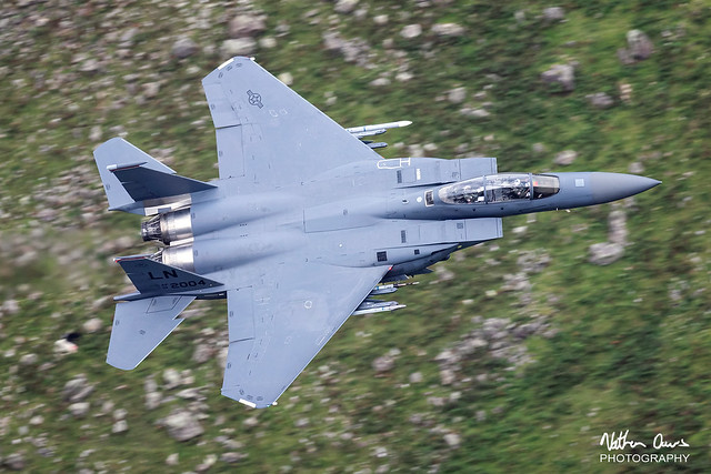 USAF Boeing F-15E Strike Eagle 01-2004 low level in Northern England