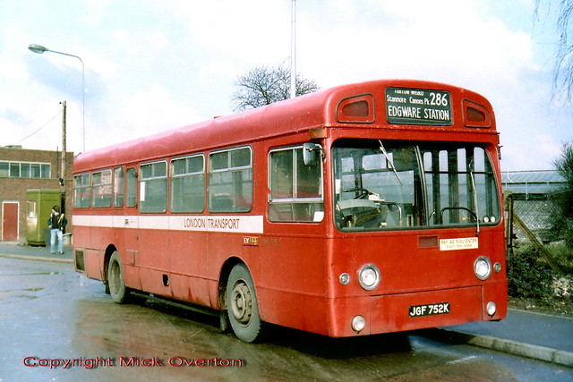 1971 AEC Swift SMS752 JGF752K route 286 freshly transferred from staffbus work at HD following replacement with RMA