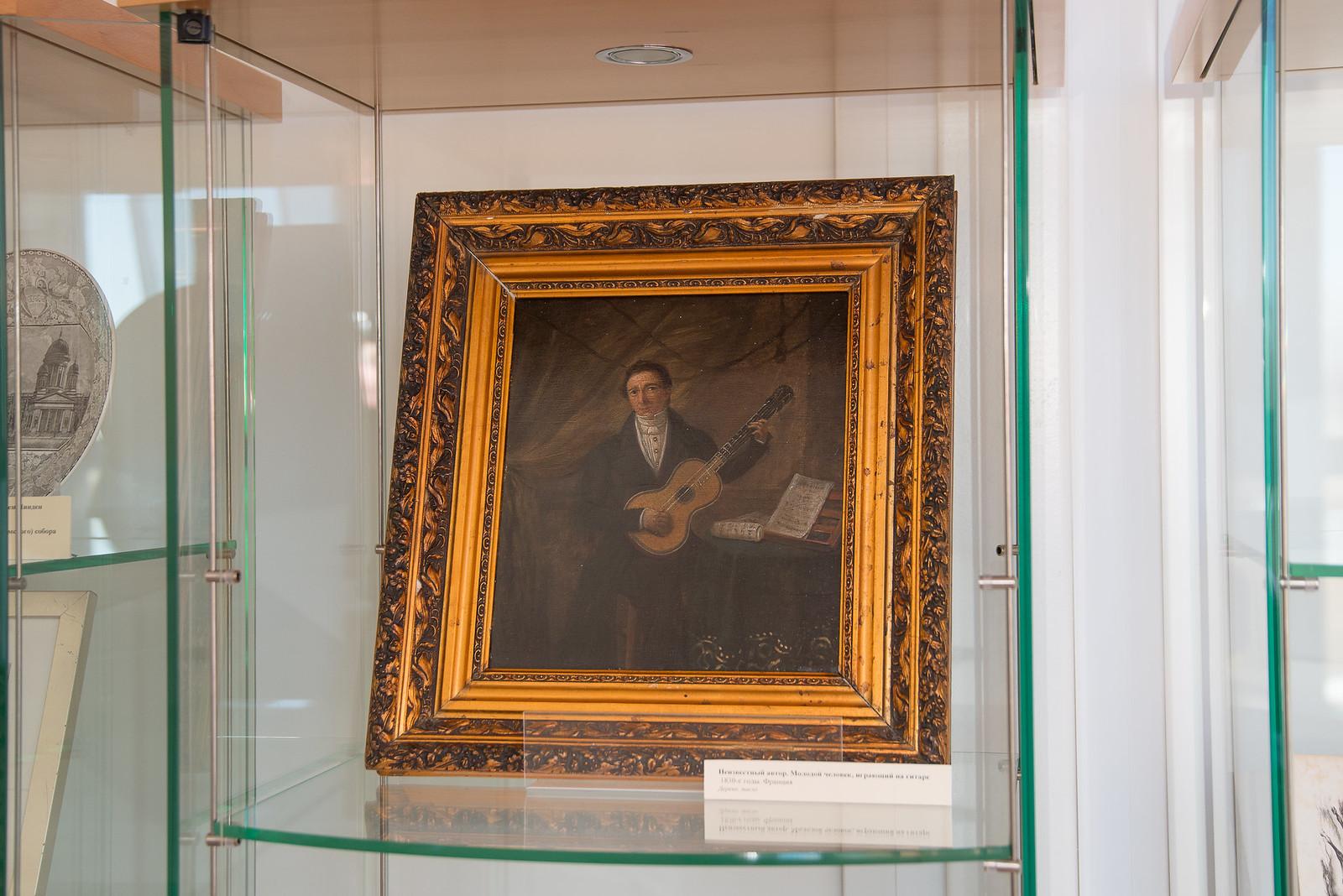 Неизвестный автор. Молодой человек, играющий на гитаре. 1830
