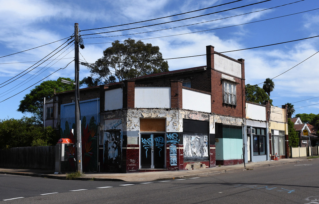 Former Shops, Croydon, Sydney, NSW.