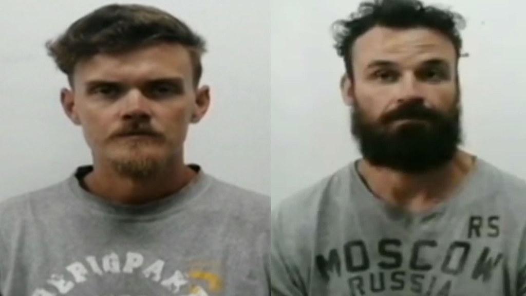 參與基甸行動被判處20年徒刑的美國人登曼(圖左)與貝瑞。(圖片來源:VTV)