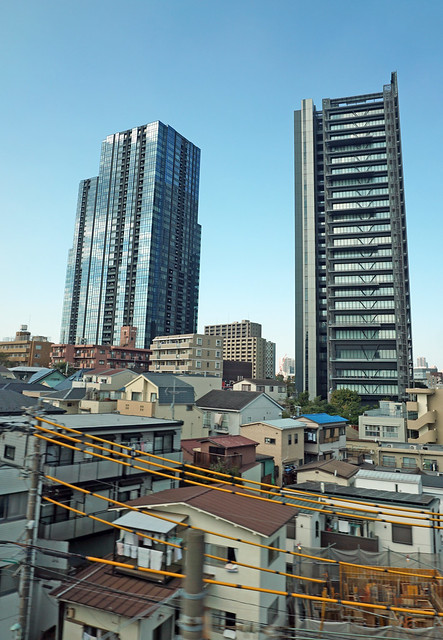 Shinagawa - on our way back to Tokyo by the Shinknsen bullet train