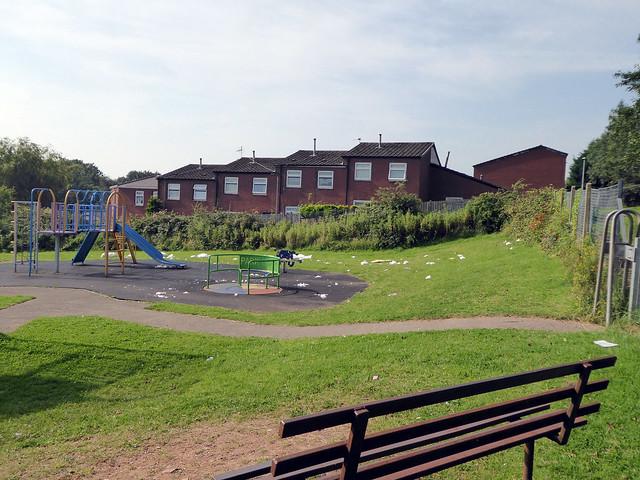 Litter, Play Park, Monnow Court, Thornhill, Cwmbran 11 August 2020