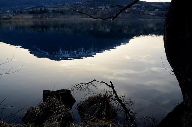 Soir d'hiver au lac de Pelleautier
