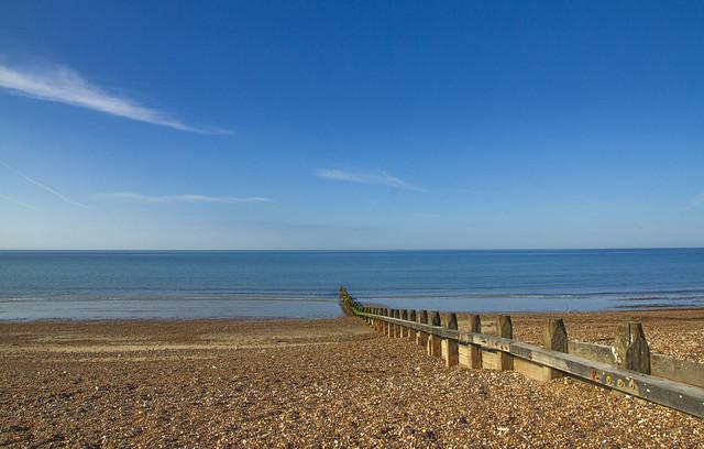 Blue sea, blue sky