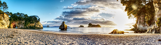 Cathedral Cove Panoroma