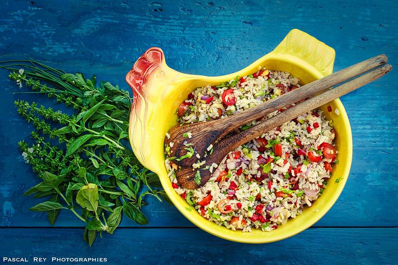 Salade  de riz estivale.