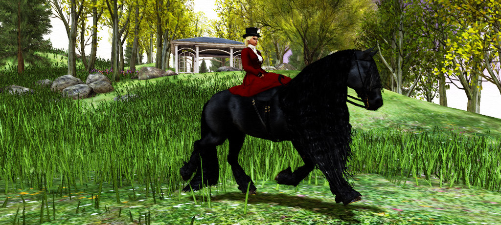 New today, Elite Equestrian's Sidesaddle Animesh Rideable Friesian